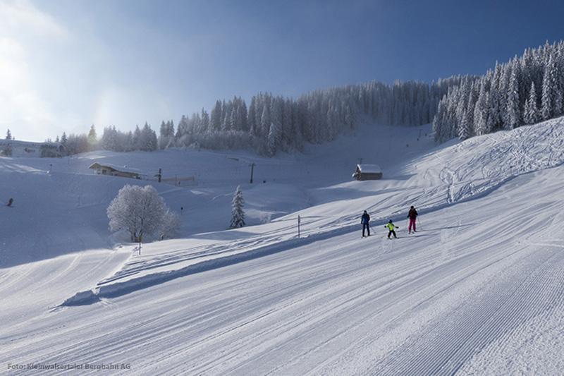 Skigebiet in der Region Kleinwalsertal