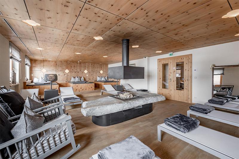 Gletscher-Spa Ruheraum
