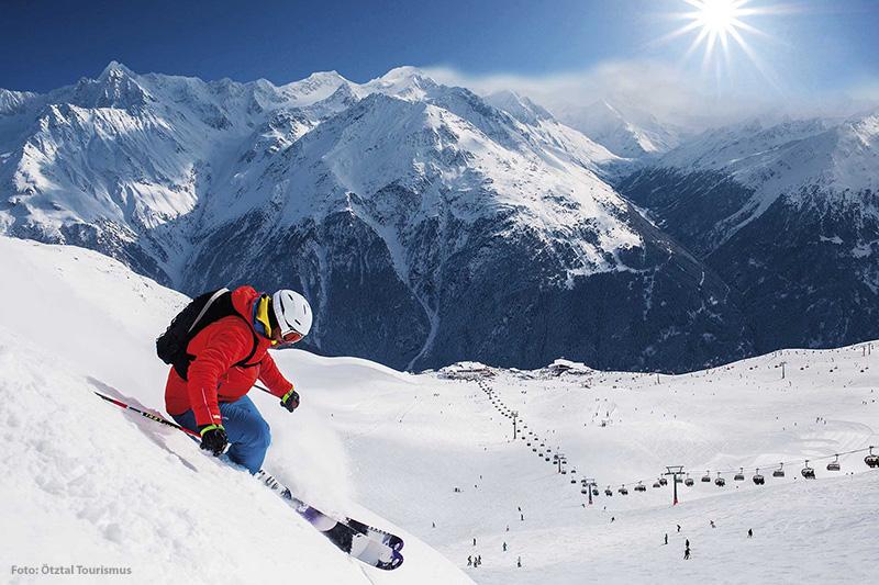 Tiefschneefahren in Sölden - Tirol