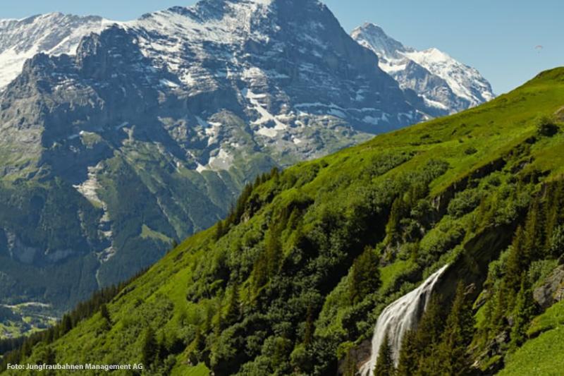 Panorama Grindelwald Wasserfall