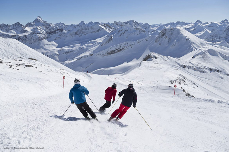 Skigebiet Nebelhorn in der Region Obersdorf im Allgäu
