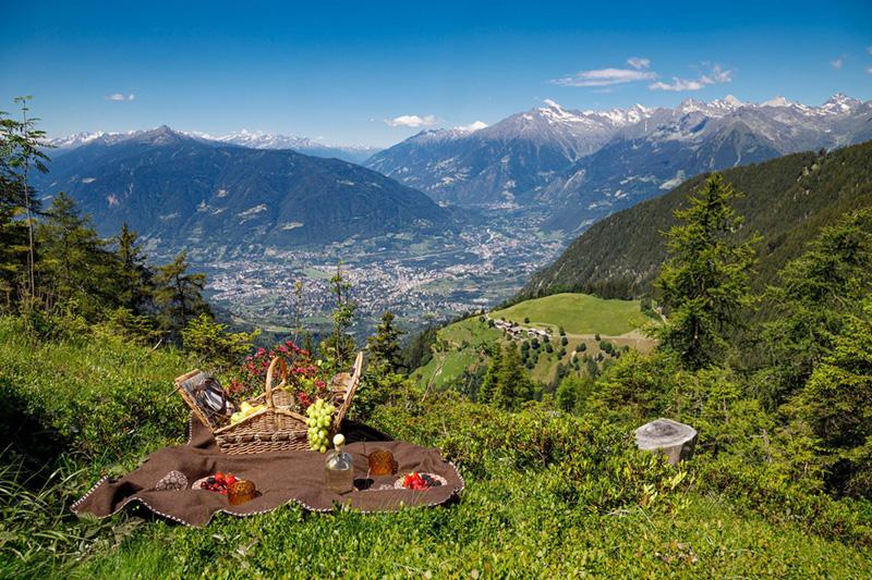 Picknicken in der schönsten Bergwelt