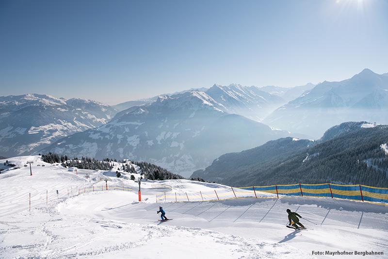 Skifahren auf dem Funride Gerent