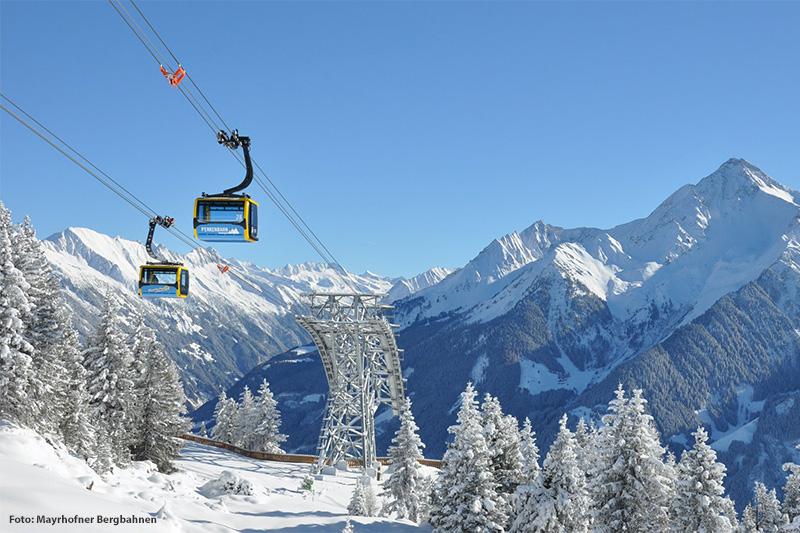 Penkenbahn im Skigebiet Mayrhofen