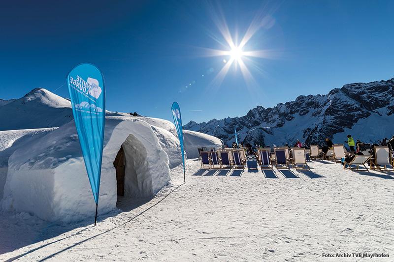Iglu Dorf White Lounge am Ahorn in Mayrhofen