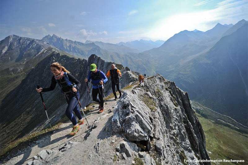 Bergsteigen und Klettern Reschenpass