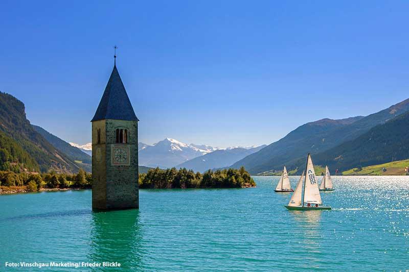 Sommerurlaub am Reschensee