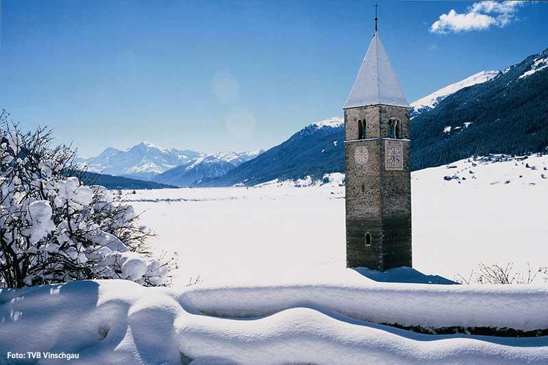 Turm im Reschensee