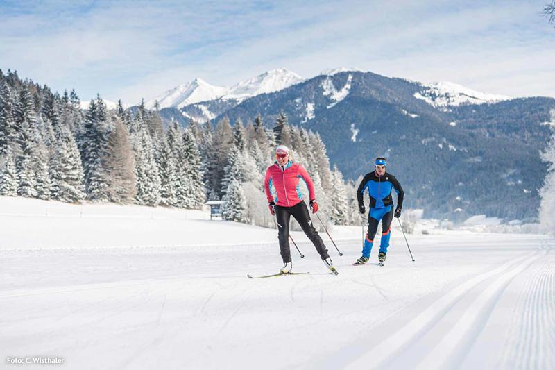 Langlaufen im Pustertal in Südtirol - Alpine Nature Hotel Stoll