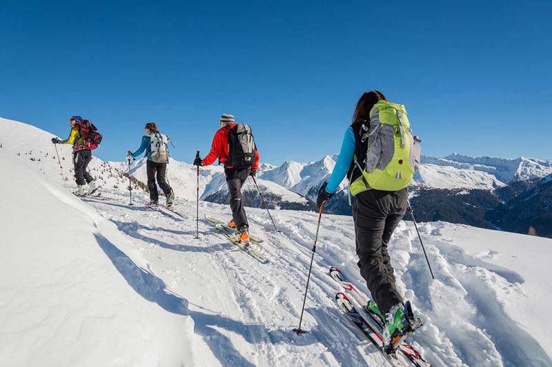 Skitouren am Kronplatz im Pustertal in Südtirol - Alpine Nature Hotel Stoll