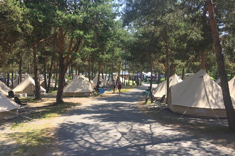 Campen in Zelten auf dem Capmingplatz Camping Kiefernhain