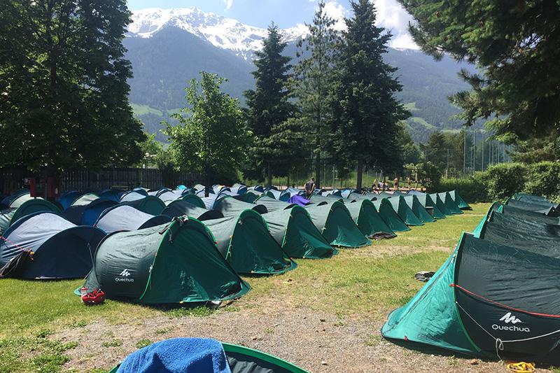 Campen auf dem Campingplatz Camping Kiefernhain