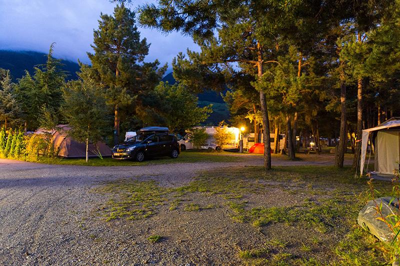 Der Campingplatz ist ruhig gelegen