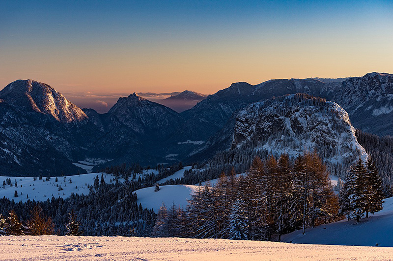 Sonnenuntergang im Salzburger Land