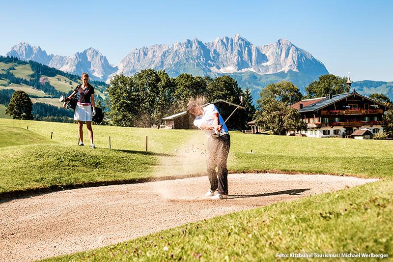 Golfurlaub in den Kitzbüheler Alpen - Golfplatz Rasmushof