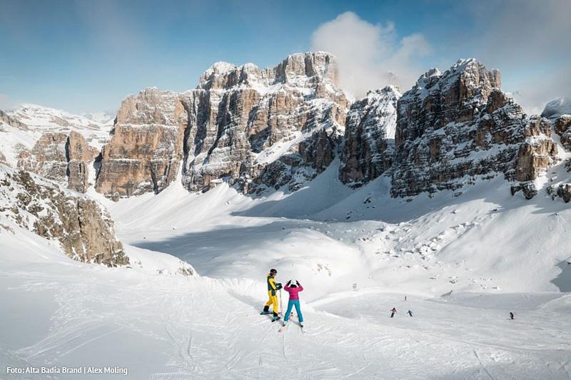 Anschluss an das Skikarussell Dolomiti-Superski