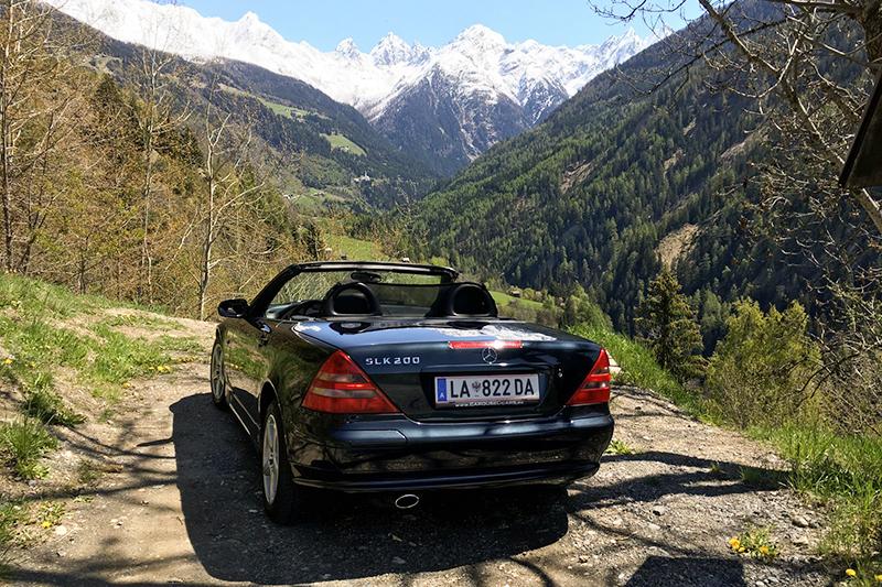 Das Kaunertal bietet Cabriotouren grandiose Hochalpenstraßen mit Blick die majestätische Bergmassive der 3000er