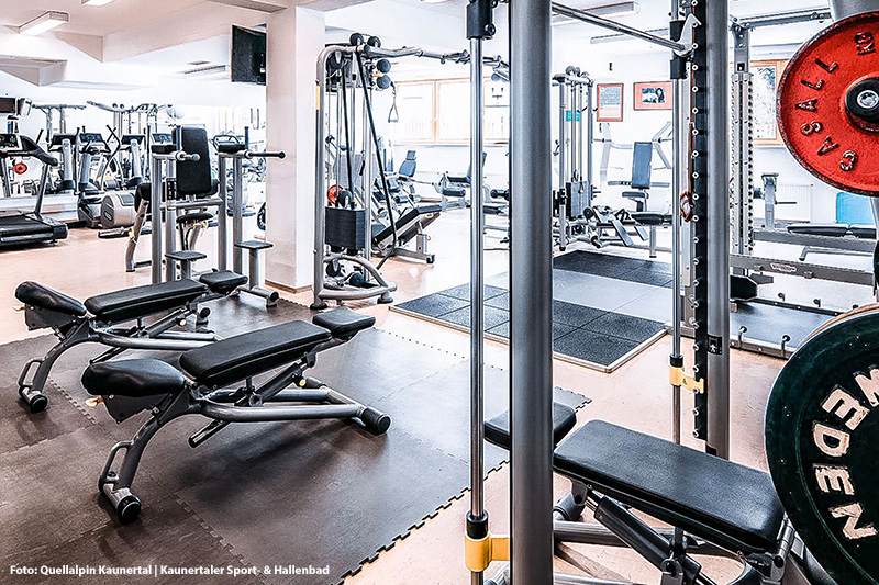 Fitnessraum im Quellalpin Kaunertal