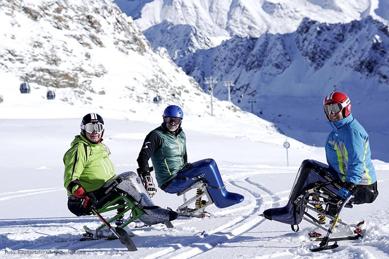 Barrierefreies Skifahren am Kaunertaler Gletscher