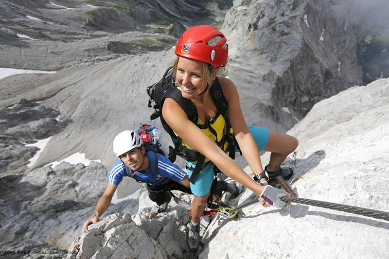 Bergsteigen in Österreich am Dachstein