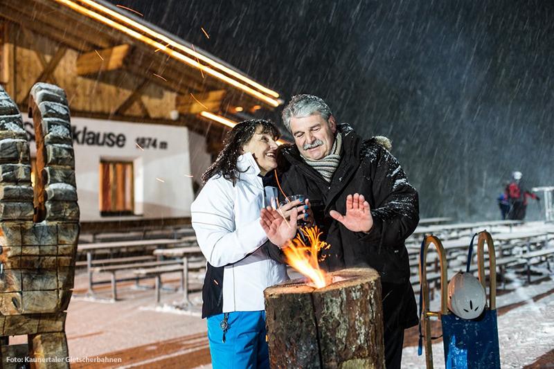 Beleuchtete Nächte am Winterberg Fendels
