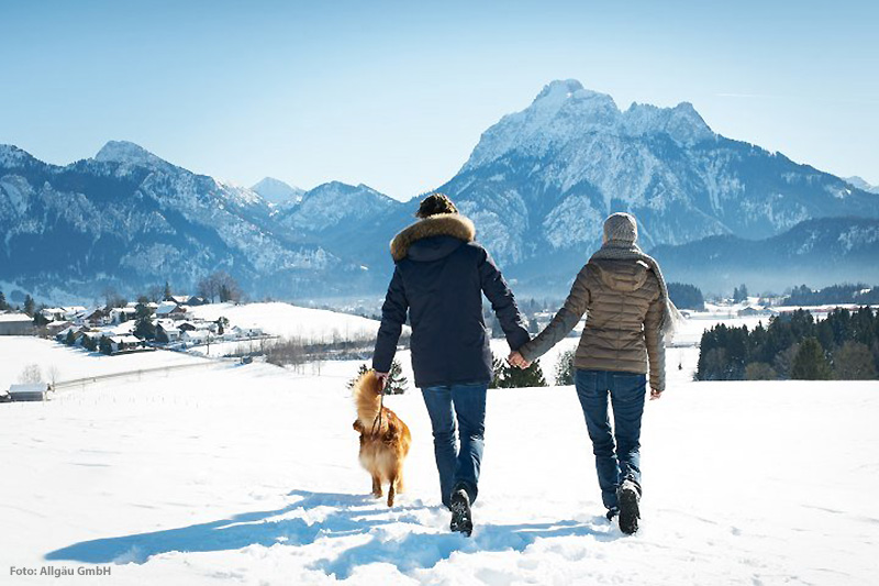 Winterspaziergang im Allgäu
