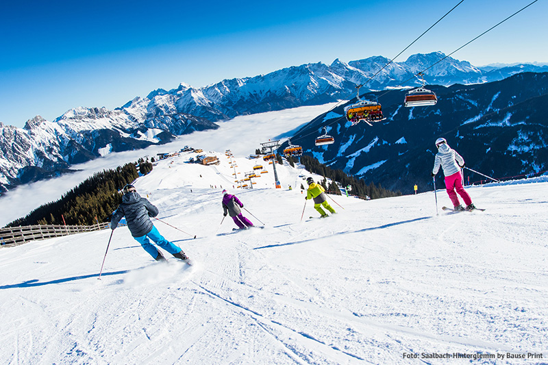 Skifahren im Skicircus Saalbach-Hinterglemm/ Leogang/ Fieberbrunn