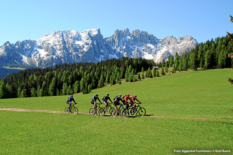 Die Touren im Bikeparadies Eggental sind ebenso vielfältig wie die Südtiroler Landschaft