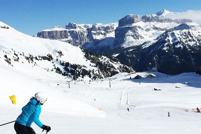 Skigebiet Karersee - Skispass unterm Rosengarten
