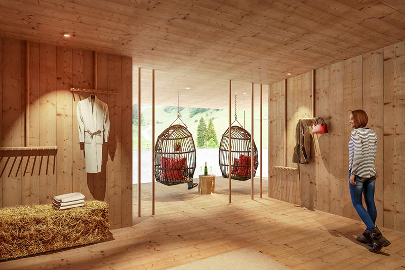 Adlerhorstsuite mit 3D Panoramascheibe in luftiger Höhe mit Blick ins Jaufental und zum Jaufenpass