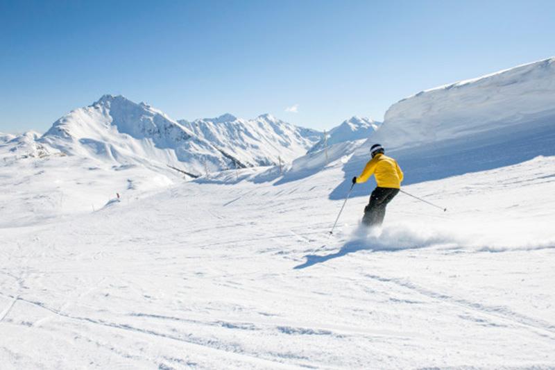 Skifahren im Jaufental