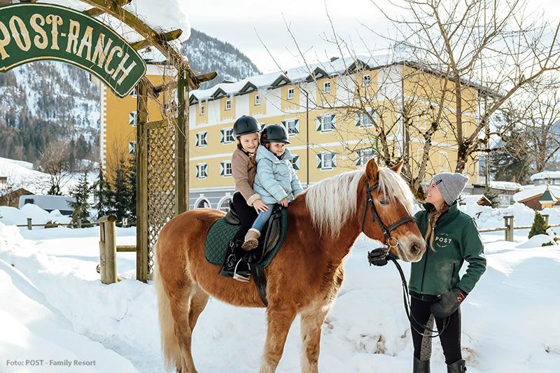 Winterreiten auf der Post-Ranch
