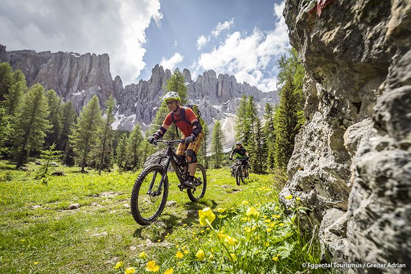 Mountainbiken am Latemar