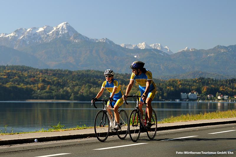 Rennradfahren am Wörthersee