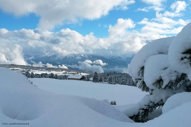 Winterpanorama auf der Villanderer Alm