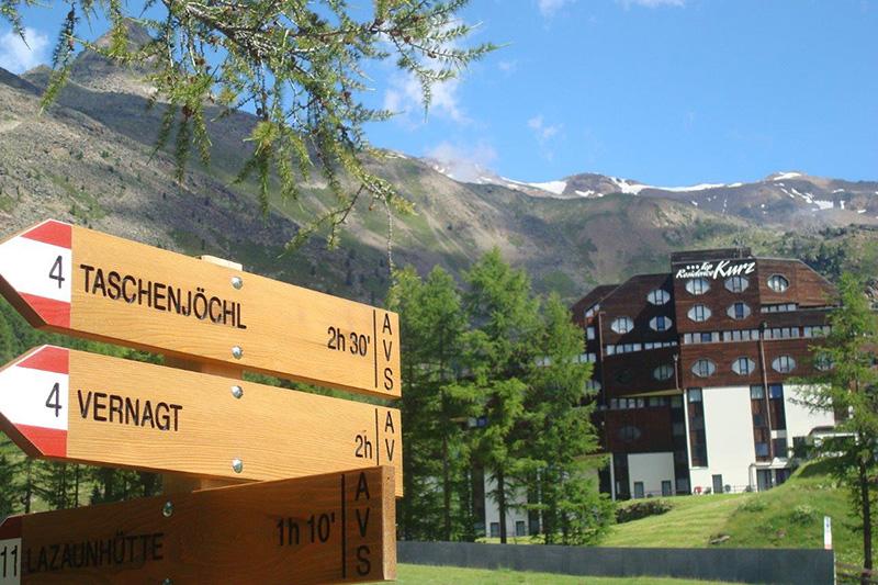 Alpenwege direkt vom Hotel Top Residence Kurz