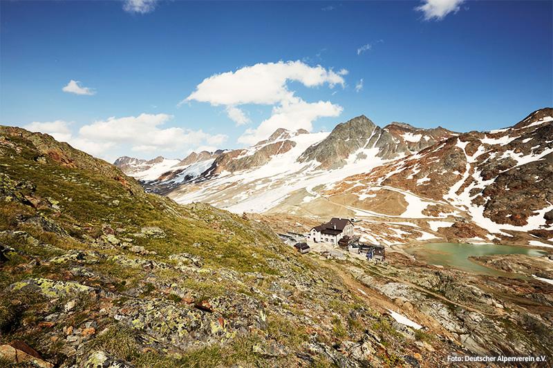 Schutzhütte Schöne Aussicht am Hochjochferner