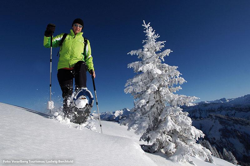 Winter- und Schneeschuhwandern in der Alpenregion Bludenz