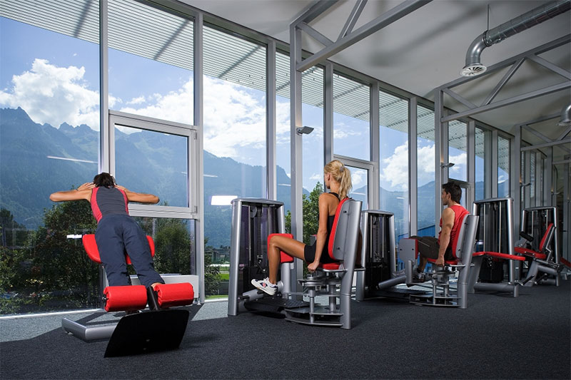 Fitness Club mit Panoramaausblick