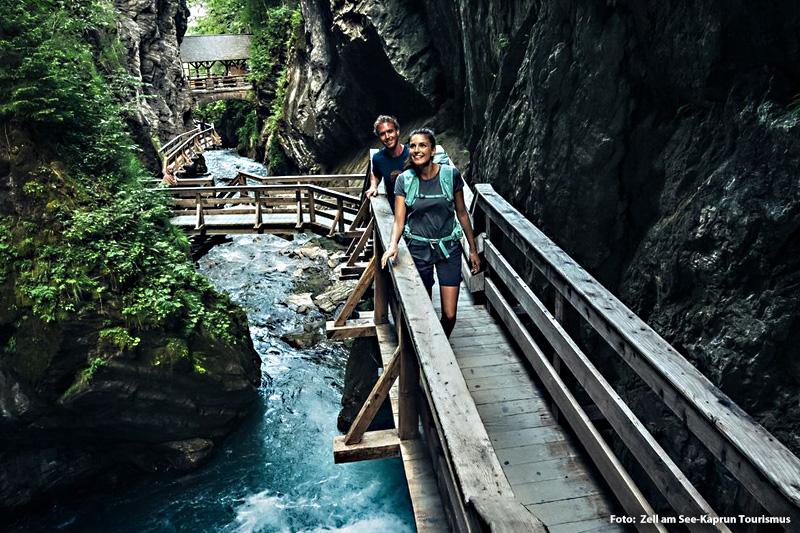 Der Sigmund Thun Klamm in Kaprun zählt mit tosendem Wasser zu den attraktivsten Ausflugszielen in der Region Zell am See-Kaprun