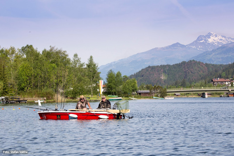 Angeln und Fischen im saubersten See Kärntens
