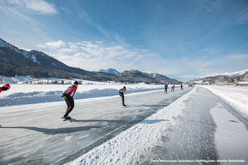 400 Meter Bahn für Eisschnellläufer