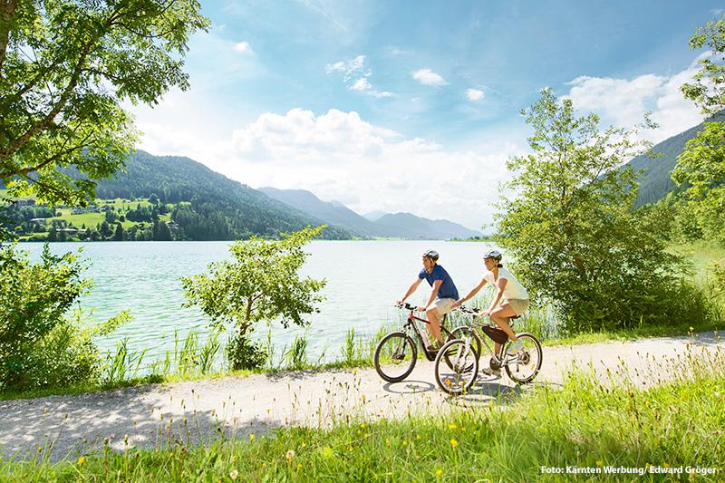 Radfahren und E-Biken am Weissensee