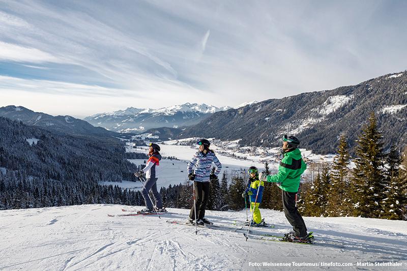 Familienskigebiet Weissensee in Kärnten