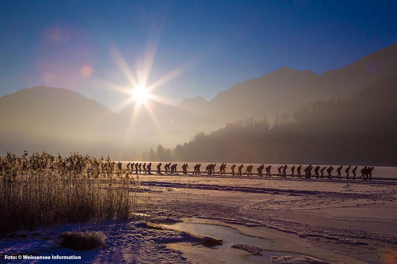 Sonnenuntergang am Weissensee