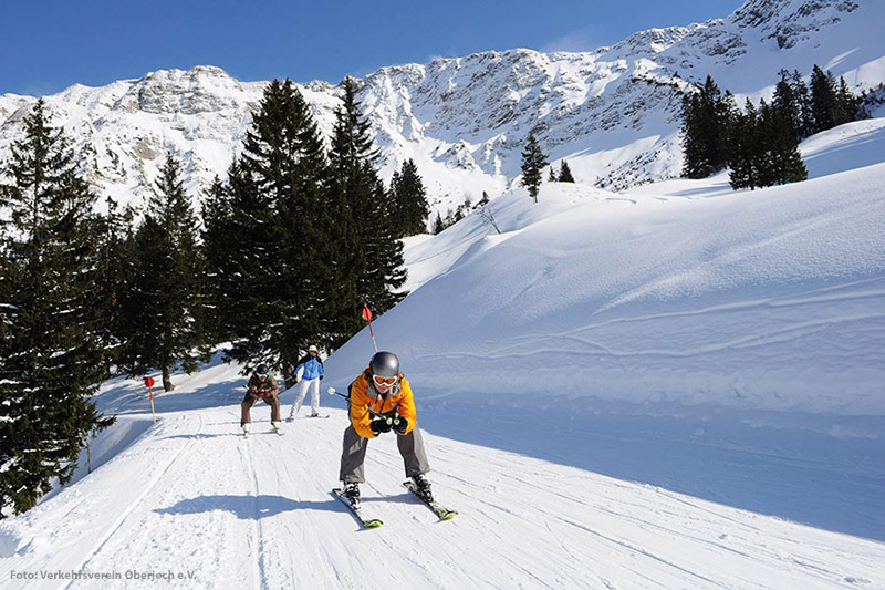 Das Skigebiet Oberjoch Bad Hindelang