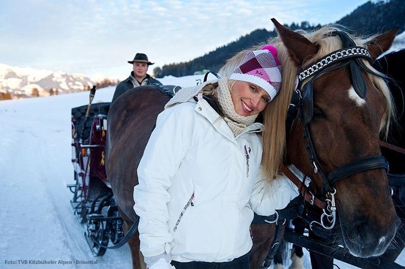 Pferdeschlittenfahrt in St. Johann in Tirol
