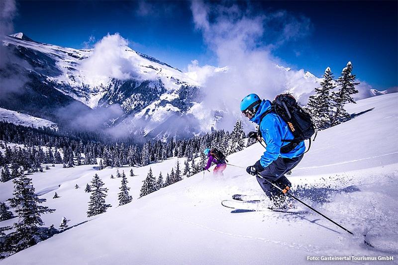 Abfahrt im Skigebiet Gastein