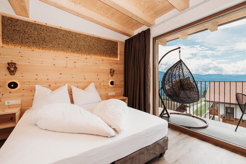 Naturholz Suite für 3 bis 6 Personen - hier ist eine perfekte Aussicht garantiert