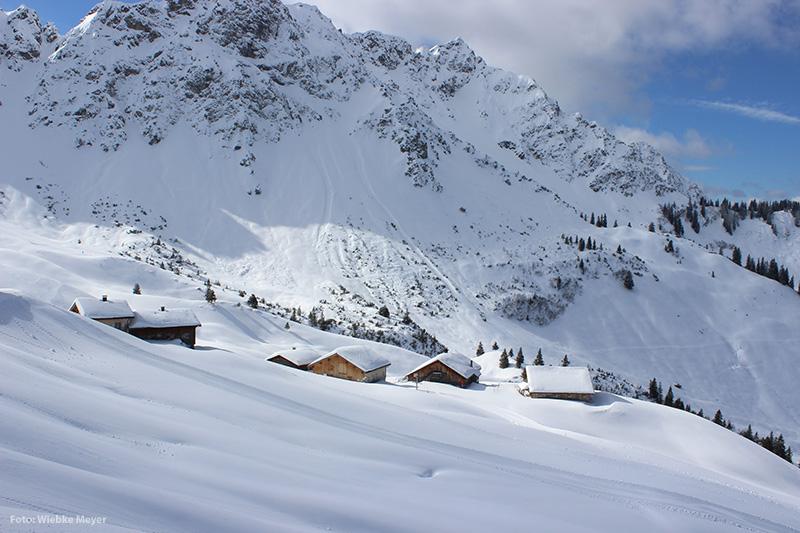 Alpe Oberpartnom im Schnee